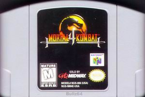 Mortal Kombat 4 (USA) Cart Scan